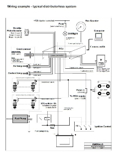 Typical distributorless wiring diagram - 4 cyl