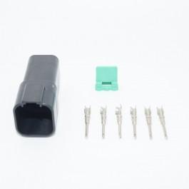 6-pin Deutsch female connector front