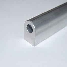 End of aluminium tubing for DIY fuel rail kit