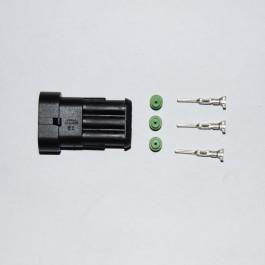 3-way Superseal socket connector inc pins