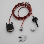 2-way Dashboard switch with key for Emerald ECU