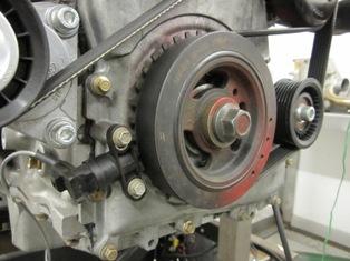 Typical Crank Trigger wheel and sensor