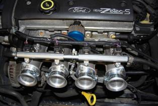 Development trumpets installed on John's Fiesta...