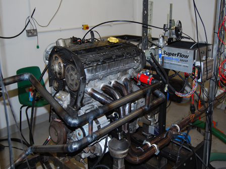 Frontline manifold on dyno
